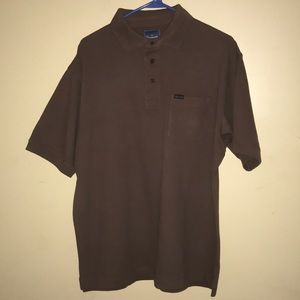 Mens Faconnable Polo shirt size medium color brown